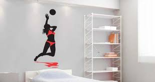 Volleyball Spike Wall Decal Dezign With A Z