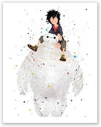Amazon Com Baymax Poster Big Hero 6 Kids Bedroom Decor Home Wall Art Print Party Decoration Idea Birthday Decor Nursery Baby Picture 8x10 Posters Prints