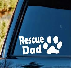 Dog Dad Vinyl Decal Sticker Bumper Sticker Car Window Decal Puppy Paw Dog Paw Car Truck Graphics Decals Auto Parts And Vehicles Hadafbook Ir