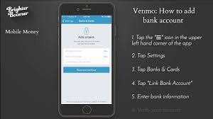 venmo how to add bank account sc you