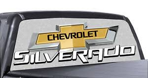 Chevrolet Silverado Rear Window Decal Chevy Graphic For Truck Suv Ebay