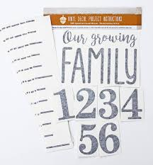 Baby Growth Charts Little Acorns Diy Vinyl Growth Chart Ruler Decal Kit Our Growing Family