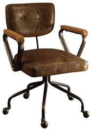 metal leather executive office chair
