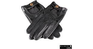 black leather driving gloves for men lyst