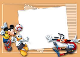 Marcos Para Invitaciones De Mickey Mouse Futbolista Decoracion