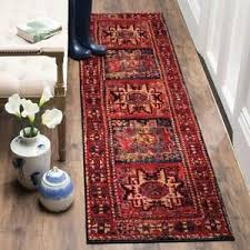 oriental tribal distressed red area rug