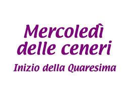 Inizio della Quaresima Mercoledì delle Ceneri - GesuTiAma.it