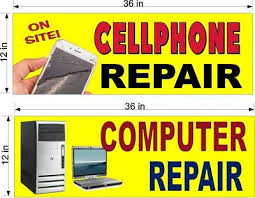 New Perforated Window Vinyl Decals 12 X 36 Computer Cell Phone Repairs Ebay