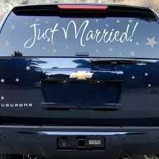 Just Married Newlyweds Car Decals Wall Decal Sticker Graphic