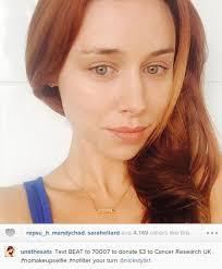 cancer research no makeup selfie text