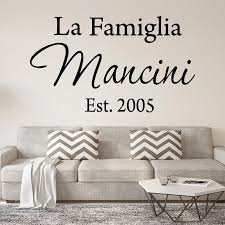 Winston Porter La Famiglia Custom Italian Family Name Wall Decal Reviews Wayfair