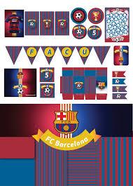 Cumpleanos Tematico Fc Barcelona Fondos De Tela Para Fiestas