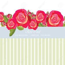 Tarjeta Del Ramo De Rosas Rosadas Delicadas Vector De La Flor Se