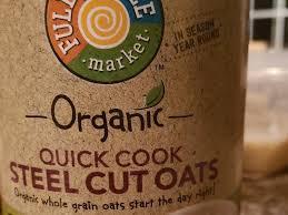 organic steel cut oats nutrition facts