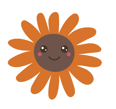 Happy Flower Emoji Orange Sunflower Vinyl Decal Sticker Shinobi Stickers