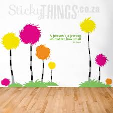 The Lorax Quote Unless Someone Like You Vinyl Wall Decal