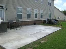 poured concrete patio ideas no colors