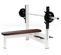 Flat weight training bench - 00004008 - gym80 International - with barbell  rack