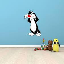Sylvester Cat Tweety Funny Cartoon Kids Room Wall Decor Sticker Decal 15 X25
