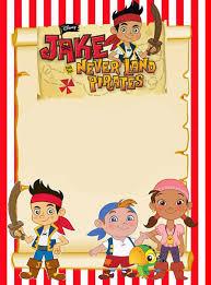 Printable Jake And Neverland Pirates Invitation Template
