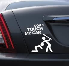Don T Touch My Car Quote Car Stickers Kawaii Man Bit Home Decoration Car Decals Styling Decoration Vinyl Wallpaper Decorative Vinyl Home Decordecor Wallpaper Aliexpress
