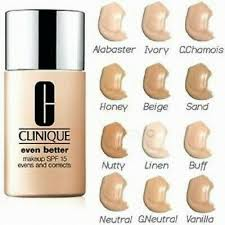 clinique even better makeup shade chart