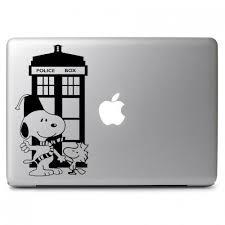 Doctor Snoopy Decal Apple Macbook Vinyl Decal Sticker Apple Mac Air Pro Laptop Sticker