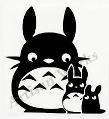 Chibi Chu Totoro Ghibli My Neighbor Totoro Decal Sticker Anime Car Window Laptop Ebay