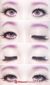 simple kawaii pastel goth eye makeup