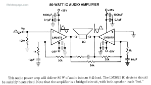 80 watt ic audio lifier lm3875 80