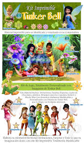 Kit Imprimible Tinker Bell Campanita Disney