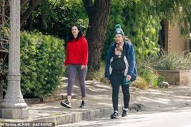 Krysten Ritter and Adam Granduciel take baby boy for a walk in LA  neighborhood amid coronavirus   Daily Mail Online