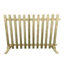 Treated Wood Fencing 4ft Round Top Picket Pales 50 High 1200mm