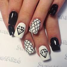 black and white nail designs alaca