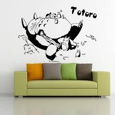 Sleeping Totoro Wall Decals Japanese Cartoon Totoro Wall Stickers Decal Wall Decor Home Wall Decorations Totoro Decals Quote Wall Decals Quote Wall Sticker From Samwanglxd 2 02 Dhgate Com