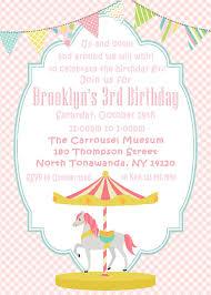 Carousel Horse Birthday Invitation Cumpleanos Del Carrusel