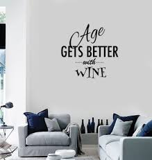 Vinyl Decal Wall Sticker Decor For Kitchen Wine Quote Words Dinner Room Wall Stickers Aliexpress