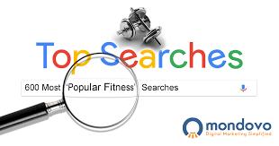 500 top fitness keywords listed mondovo