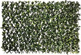 Amazon Com Ecoopts Artificial Ficus Leaf Faux Ivy Expandable Stretchable Privacy Fence Screen Single Side Leafs And Vine Decoration For Outdoor Garden Yard 1 Piece Garden Outdoor