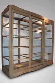 sold 19c large oak display cabinet