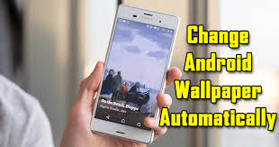 change your android wallpaper automatically