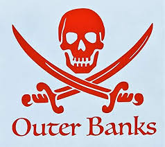 Custom Pirate Outer Banks Obx Vinyl Decal North Carolina Bumper Sticker For Coolers Boats Laptops Car Windows Wickedgoodz