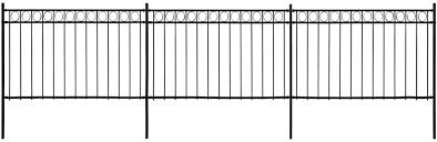 Vidaxl Fence Panels With Posts Outdoor Garden Farm Partition Barrier Edging Border Steel 6x2m Black Amazon Co Uk Kitchen Home