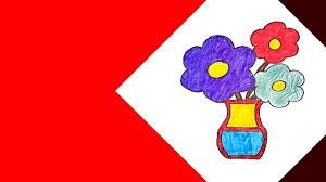 رسم رسم مزهريه فازة ورد سهله بالتلوين خطوة بخطوة Youtube