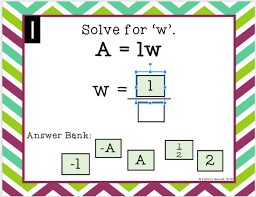 literal equations with google slides