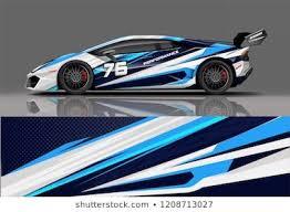 Sport Racing Car Wrap Decal And Sticker Livery Design Vector Eps10 Format Sports Car Racing Car Wrap Car Wrap Design