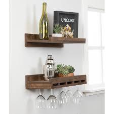 bernon wall mounted wine glass rack set