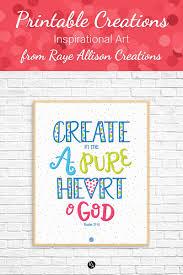 Printable Creations Pure Heart Raye Allison Creations