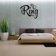 He Put A Ring On It Wedding Quote Wall Decal Vinyl Decal Car Decal Vd029 36 Inches Walmart Com Walmart Com