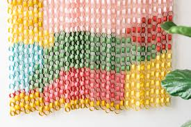 paper chain wall hanging the house